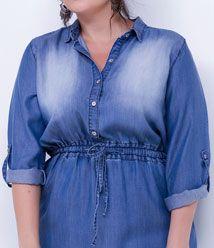 Vestidos Plus Size Jeans, Acinturado e Mais - Lojas Renner