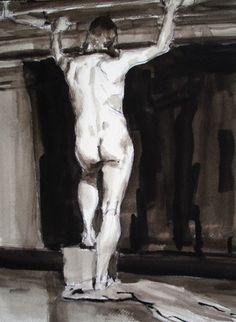 Man Standing with Arms Raised by Robert Sim Man Standing, International Artist, Painters, Sim, Contemporary Art, Art Pieces, Artists, Statue, Fine Art