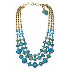 "Topkapi ""Audrette"" Necklace ($240) found on Polyvore"