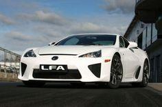 White Lexus LFA