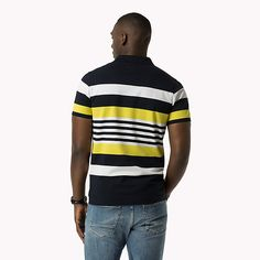 Image for Striped Slim Fit Polo from TommyUK