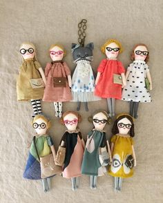 how to make cute plushie or rag dolls for kids with specs inspiration #clothdoll #dollmaker #fabricdoll
