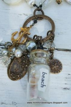 Details of the glass vial I recd in the Junk Swap now turned into jewelry.
