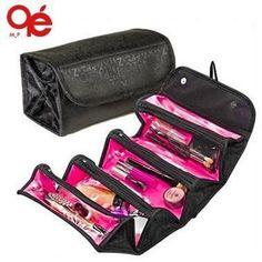 NEW arrival cosmetic bag fashion women makeup bag hanging toiletries travel kit jewelry organizer