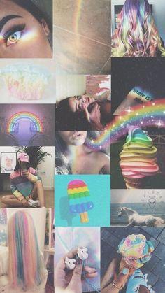 ✔ Wallpaper Lockscreen Random Rainbow - w a ll p a p e r s - Aesthetic Pastel Wallpaper, Aesthetic Backgrounds, Aesthetic Wallpapers, Tumblr Wallpaper, Cool Wallpaper, Wallpaper Backgrounds, Wallpaper Lockscreen, Gay Aesthetic, Aesthetic Collage