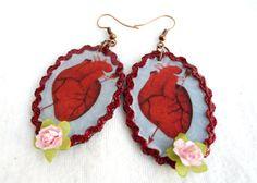 The Heart Loteria Earrings by romualda on Etsy, $18.50