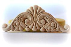 0893 Scrollwork Flourish Wood Textured Pediment by MasterMolds, $11.00
