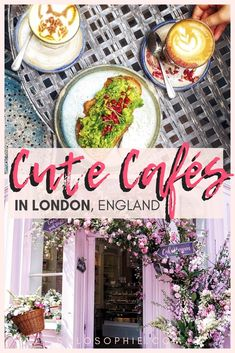 Cute Cafés and coffee shops in London, England. Here's your complete guide to the best of British cafes in the Capital of the UK Days Out In London, London With Kids, Things To Do In London, London Coffee Shop, Coffee Shops, London England, Oxford England, Cornwall England, Yorkshire England