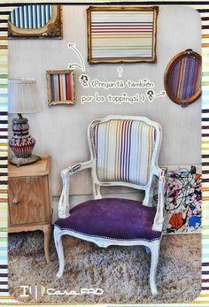 Sillon estilo Luis XV    www.casafad.comg Interesante tapizados diferente asiento y respaldo.