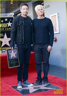 David Duchovny and Chris Carter. He's wearing Converse!!!:)