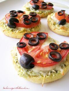 Baking with Blondie: Lady Bug Pizzas