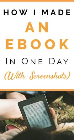 How I Made An Ebook In One Day (And How You Can, Too) - Finding Tom