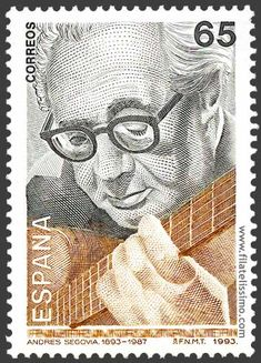Postage Stamp: Spain - Tritono Music News: La Guitarra de Andrés Segovia