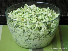 Surówka krymska Appetizer Salads, Appetizers, Bruschetta, Polish Recipes, Polish Food, Side Salad, Tzatziki, Coleslaw, Kraut