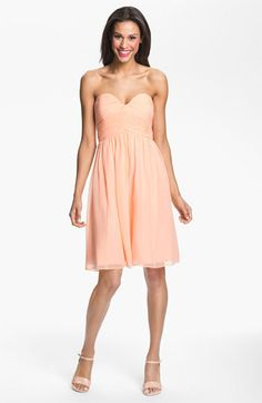 Donna Morgan 'Morgan' Strapless Silk Chiffon Dress available at #Nordstrom Bridesmaid dresses?