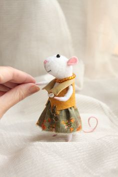 Wool Felted mouse Needle Felted Miniature Soft от WorkshopTatyanas
