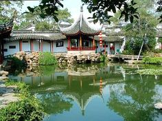 The beautiful reflection of Lingering Garden