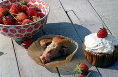 Strawberry coconut flour muffins