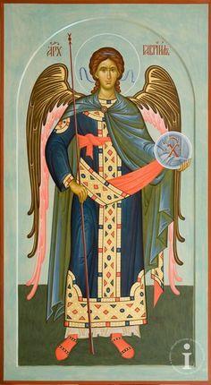 Religious Icons, Religious Art, Saint Gabriel, Best Icons, Byzantine Art, Orthodox Icons, Cherub, Celestial, Illustration