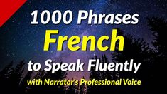 1000 Phrases to Speak French Fluently - YouTube How To Speak French, Learn French, French Conversation, French Education, French Phrases, Language School, France, French Language, Read Aloud