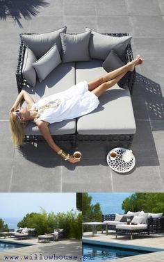 Outdoor furniture design: 60 chairs and garden beds - Auvents - Design Rattan Furniture Outdoor Furniture Design, Rattan Furniture, Garden Furniture, Sofa Rattan, Outdoor Lounge, Outdoor Living, Outdoor Decor, Design Lounge, Bed Design