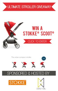 WIN A STOKKE SCOOT STROLLER!!! This is my favorite stroller. It's so light weight and my go to stroller for everything! Great Giveaway!! #giveaway #stroller #win #giftidea