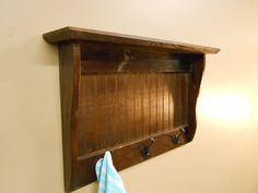 Entryway Mudroom Reclaimed Rustic Wall Mounted Coat Rack 3 Hooks