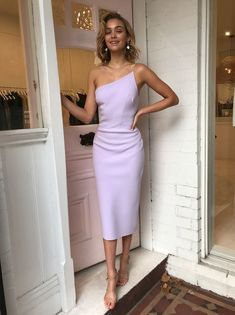 Dresses Bec & Bridge Araia Asym Midi Dress in Lilac - Bec and Bridge Gala Dresses, Dress Outfits, Fashion Dresses, Formal Dresses, Formal Midi Dress, Formal Wear, Hijab Fashion, Girls Evening Dresses, Summer Dresses