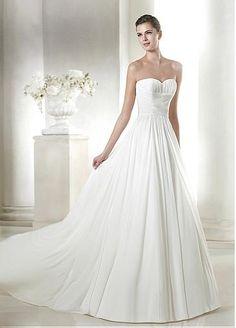 Elegant Chiffon Sweetheart Neckline Natural Waistline A-line Wedding Dress