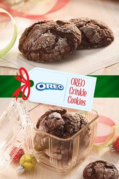 Create, share and celebrate this winter with twists on recipes using favorites like OREO to make holiday magic. Find this #NabiscoHolidayRecipe and more at www.snackworks.com Christmas Deserts, Holiday Desserts, Holiday Treats, Christmas Baking, Holiday Recipes, Crinkle Cookies, Down South, Holiday Cookies, So Little Time