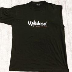 Male T-Shirt This Black TSHIRT for the fellas. Wicked is Iced in white and Body Framez in red. Shirts Tees - Short Sleeve