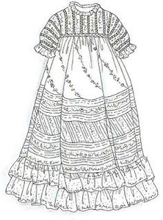 emaline's christening gown adapted from MARTHA PULLEN'S DIAGONAL LACE CHRISTENING GOWN