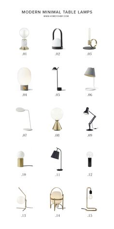Amy of Homey Oh My lights the way with a stunning round-up of 15 minimal and modern table lamps all on sale during #TheDesignEvent. Take a peek at the lineup of favorites—plus tips for where each piece might look best in the home. #tablelamps #modernlighting