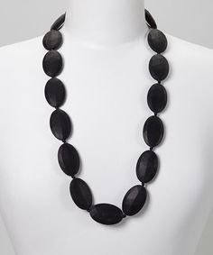 Another great find on #zulily! Black Jules Teething Necklace #zulilyfinds