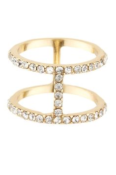 Dainty Pave Dual Row Ring