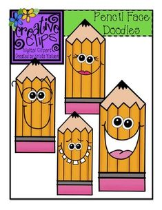 FREE SMILEY PENCIL CLIPART These friendly, smiley pencils are perfect for just about anything! Add a cute little character to your classroom activities with these four color images in png formats. Classroom Clipart, Classroom Decor, Classroom Activities, Therapy Activities, School Fun, Art School, School Frame, School Stuff, Pencil Clipart