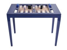Mesa de backgammon tamaño profesional, hecha de madera y corcho, viene con piezas a juego y está disponible bajo pedido en varios colores en Sollano 16.