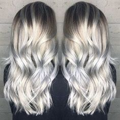 Pale blonde to silver hair color by Janai Hart a.k.a. @harttofcolor blonde hair platinum blonde hair blonde balayage blonde ombre http://hotonbeauty.com