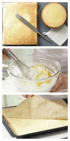 Perfekt für eine fluffige Gebäckrolle, für Cremeschnitten und als Tortenboden: Biskuitteig mit Dinkelmehl (Grundrezept) | http://eatsmarter.de/rezepte/biskuitteig-dinkelmehl
