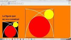 Construcción de un Sangaku: Una cadena de circunferencias tangentes dentro de un triángulo - YouTube