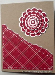 stampin up five-way flower