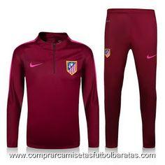 Camisetas de futbol baratas 2016: Chandal rojo del Atletico Madrid 2017
