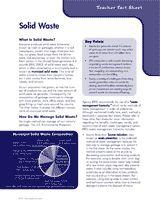 In this unit on waste reduction, students learn the basics of solid and hazardous waste, plus ways to reduce the production of both. (Grades K-6)
