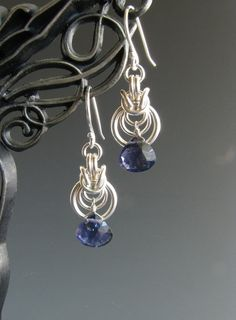 Byzantine Ripple Chainmail Earrings with by WolfstoneJewelry