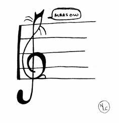 Treble Clef Cat by Nancy Lemon, via Behance