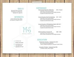 this unique hexagonal resume template is professional simple and modern the landscape format will
