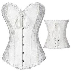Women's Corset ($20) ❤ liked on Polyvore featuring intimates, shapewear, lingerie and white