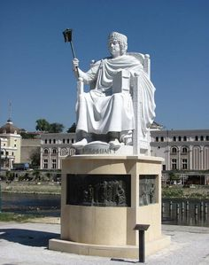 Statue of Emperor Justinian the 1st.