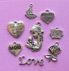 Mother Charm Collection Antique Tibetan Silver by BohemianFindings, $3.75
