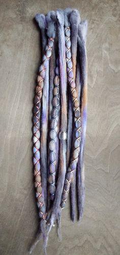 10pc Galaxy Custom Order Tie-Dye Beaded Wool by PurpleFinchStore